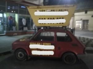 Parkująca reklama rynek Pobiedziska